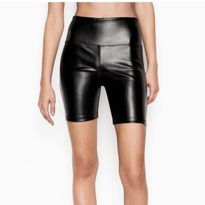new VICTORIA'S SECRET SPORT vegan leather shorts x